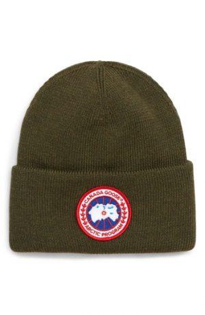 Canada Goose Arctic Disc Merino Wool Toque Beanie - Green