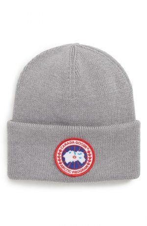 Canada Goose Arctic Disc Merino Wool Toque Beanie - Grey