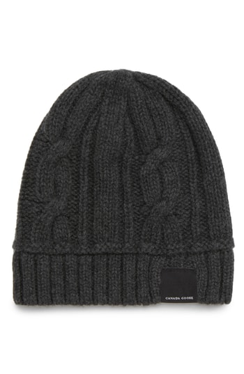 Canada Goose Cabled Merino Wool Toque Beanie - Grey