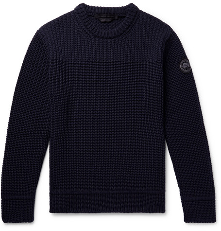 Canada Goose - Galloway Merino Wool Sweater - Navy