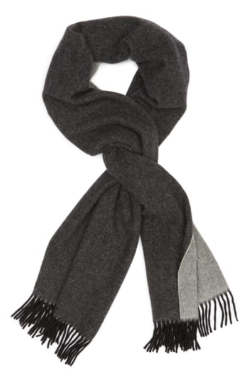 Canada Goose Two Tone Woven Wool Scarf, Size One Size - Black