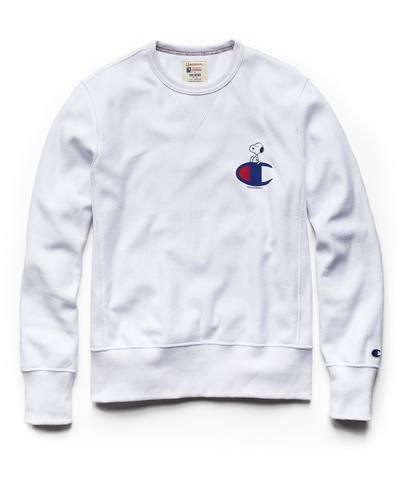 Champion X Peanuts Snoopy C Sweatshirt in White