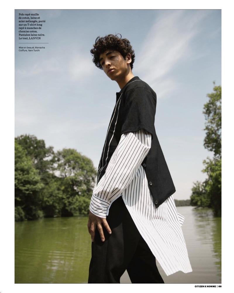 Teo Abihdana Models Lanvin for Citizen K Homme