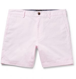 Club Monaco - Baxter Slim-Fit Striped Cotton Shorts - Pink