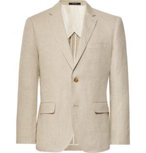 Club Monaco - Beige Slim-Fit Grant Linen Suit Jacket - Beige