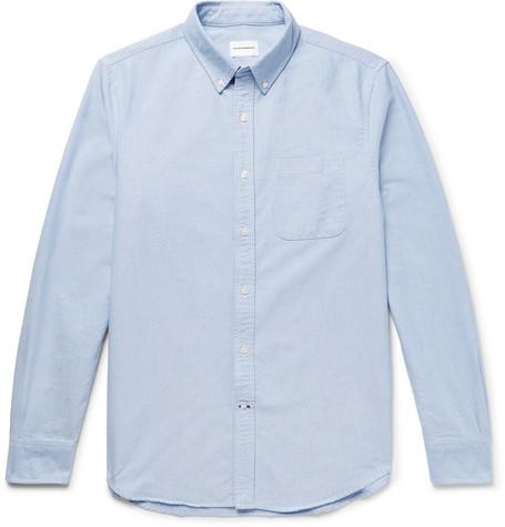Club Monaco - Button-Down Collar Cotton Oxford Shirt - Light blue