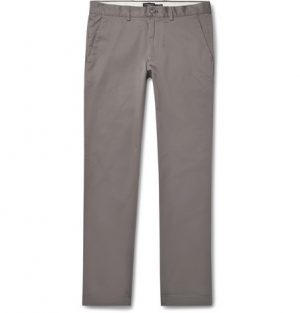 Club Monaco - Connor Slim-Fit Stretch-Cotton Twill Chinos - Anthracite