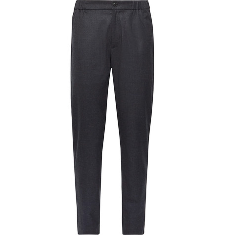 Club Monaco - Lex Tapered Puppytooth Woven Trousers - Navy