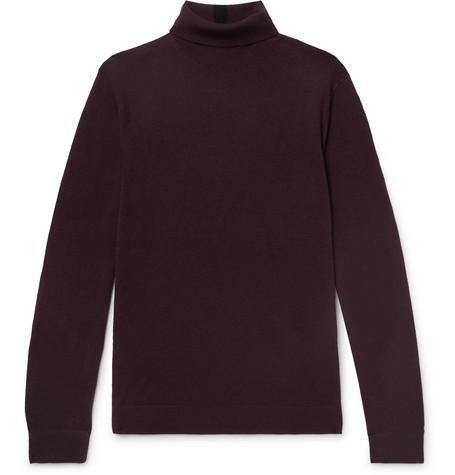 Club Monaco - Merino Wool Rollneck Sweater - Merlot