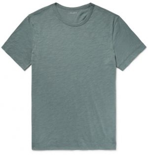 Club Monaco - Slub Cotton-Jersey T-Shirt - Gray green