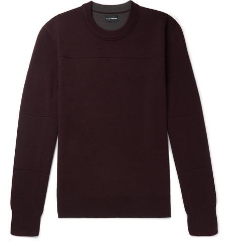 Club Monaco - Stretch Merino Wool-Blend Sweater - Burgundy