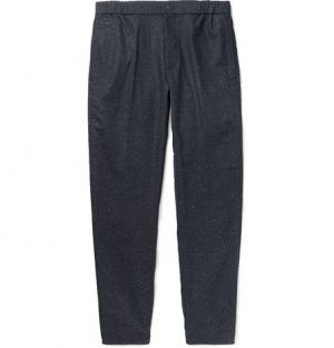 Club Monaco - Tapered Donegal Woven Trousers - Navy