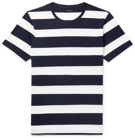 Club Monaco - Williams Striped Cotton-Jersey T-Shirt - Navy