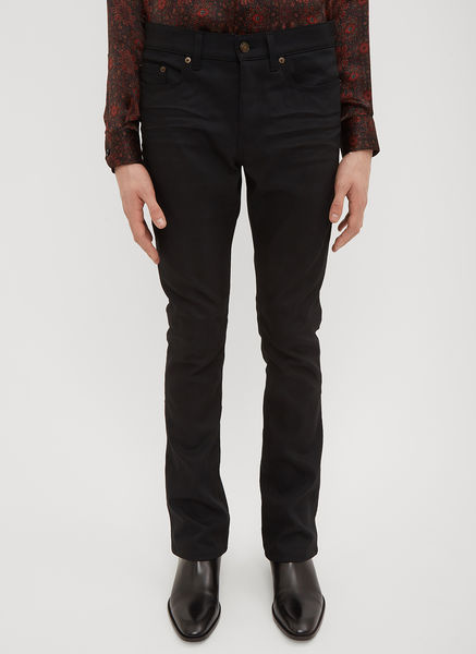 Coated Boot Cut Jeans