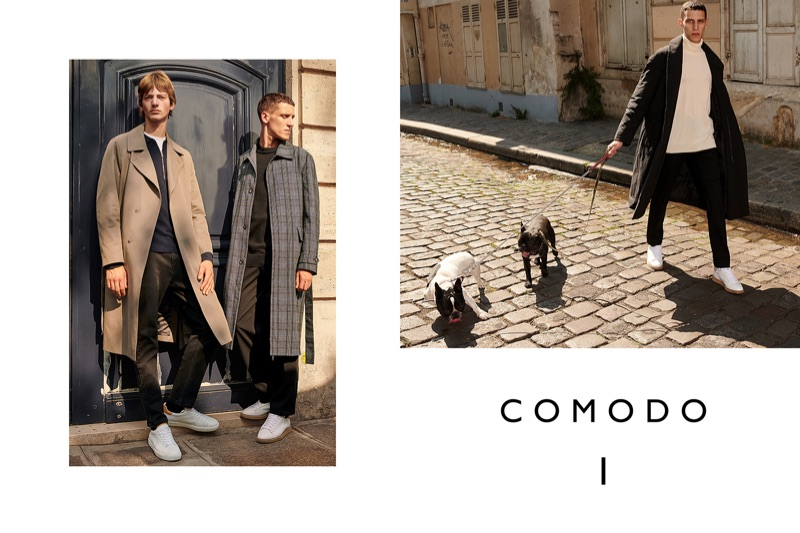 Bartolomé Chapel and Luke Royer star in Comodo's fall-winter 2018 campaign.