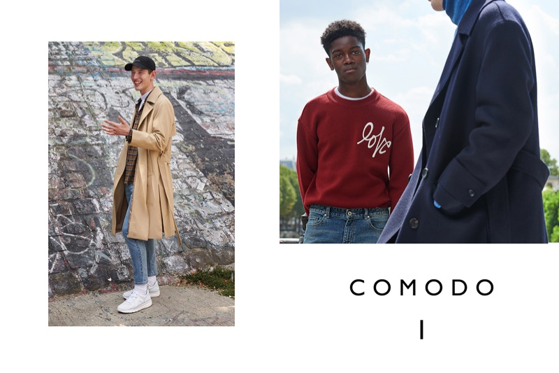 Luke Royer and Jonathan Botty appear in Comodo's fall-winter 2018 campaign.