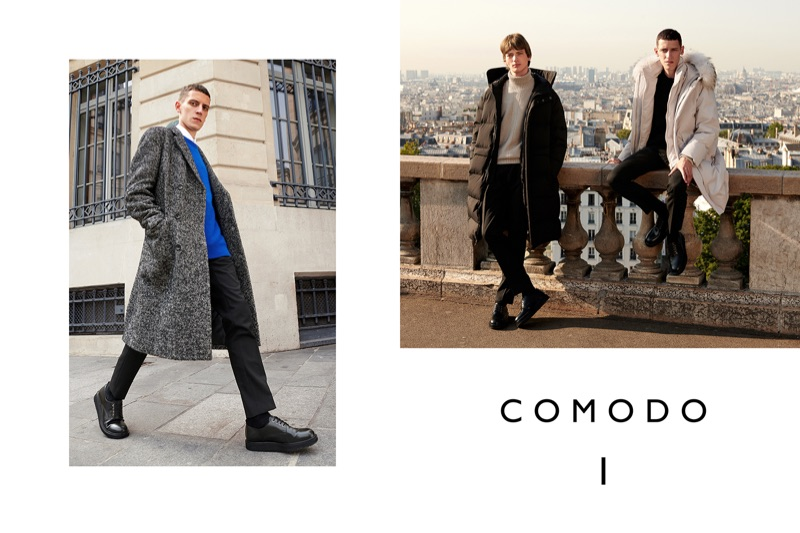 Models Luke Royer and Bartolomé Chapel front Comodo's fall-winter 2018 campaign.