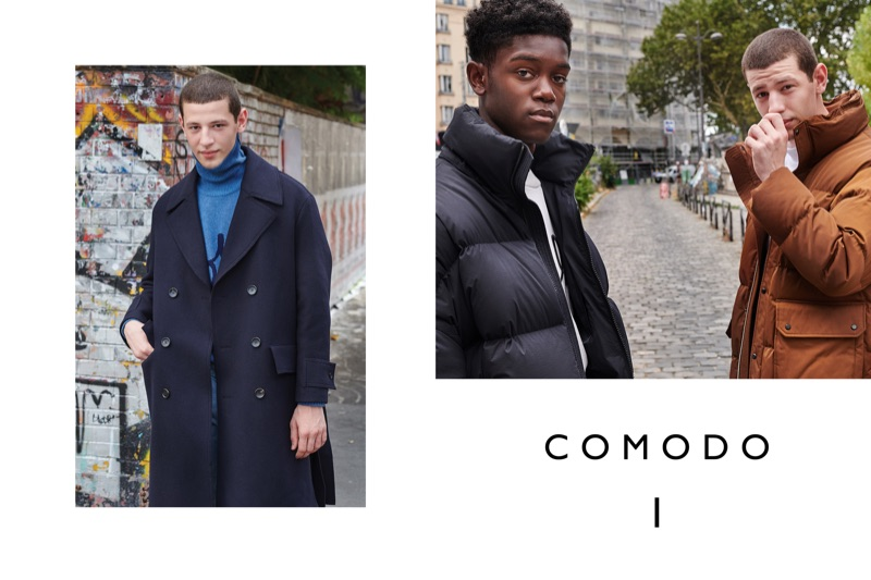 Anis Ayoub and Jonathan Botty appear in Comodo's fall-winter 2018 campaign.