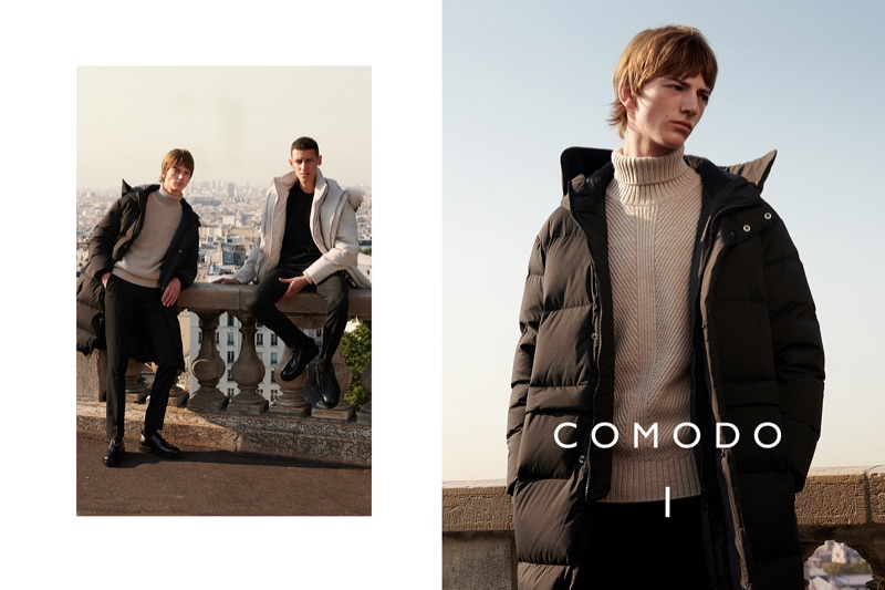Comodo enlists Bartolomé Chapel and Luke Royer as the stars of its fall-winter 2018 campaign.