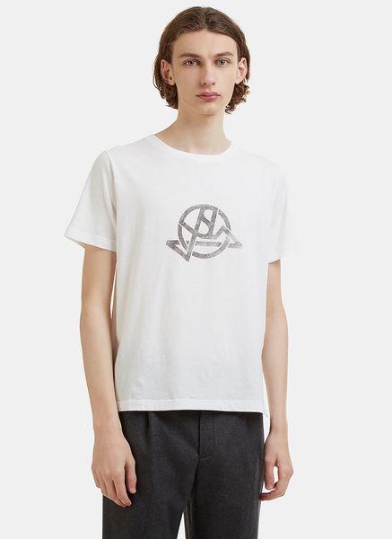 Crew Neck Abstract Printed Logo T-Shirt
