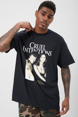 Cruel Intentions Graphic Tee by 21 MEN Black/multi