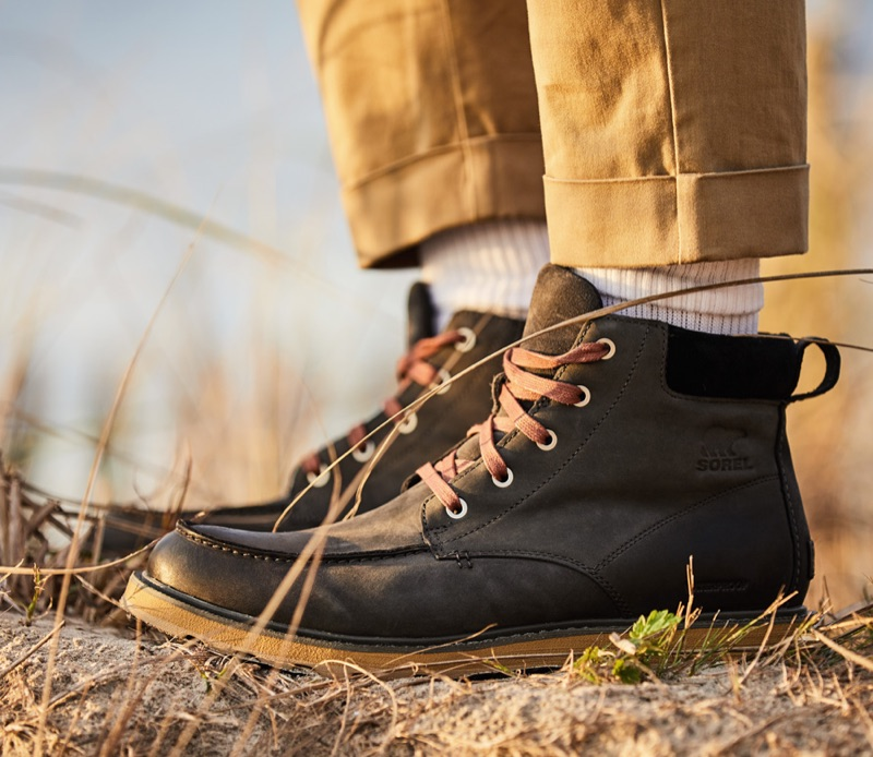 Sorel moc toe waterproof boots.