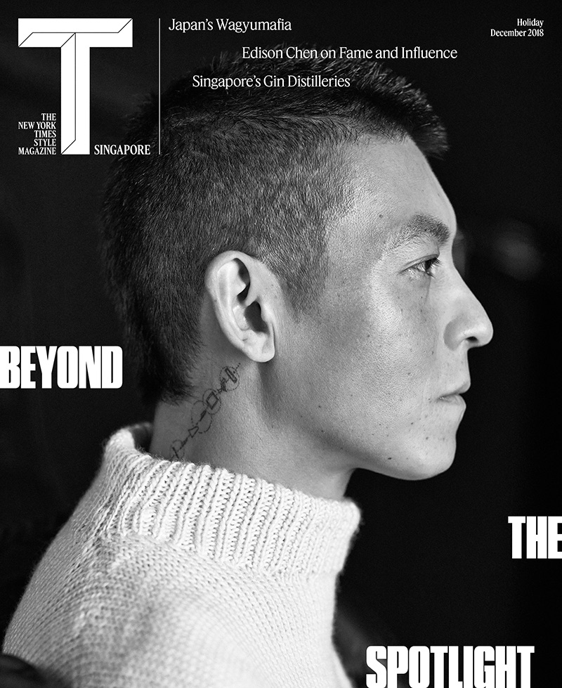 Edison Chen covers the December 2018 issue of The New York Times Style Magazine Singapore.
