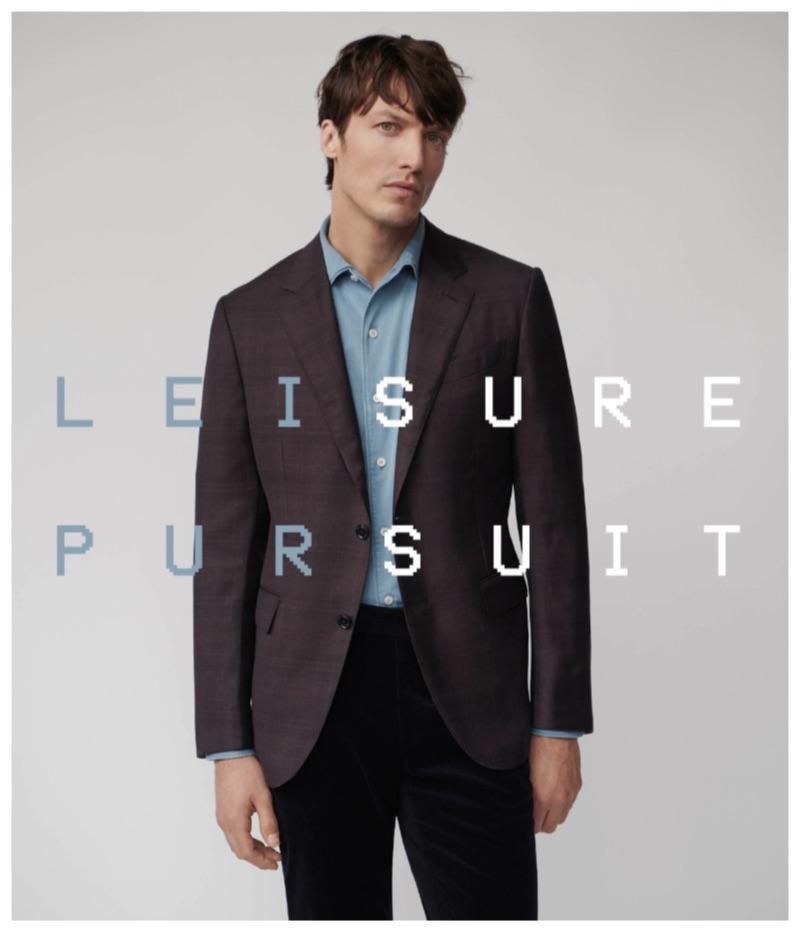 Michael Gandolfi stars in a new lookbook for Barneys New York. The top model wears all clothes Ermenegildo Zegna.