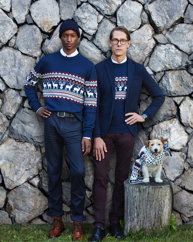 Oliver Kumbi and Ingo Sliwinski star in Esprit's holiday 2018 campaign.
