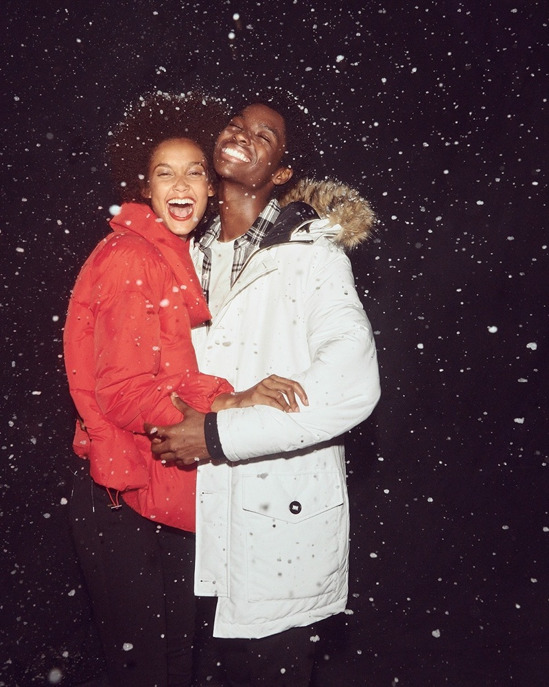 All smiles, Alton Mason appears in Express' holiday 2018 campaign.
