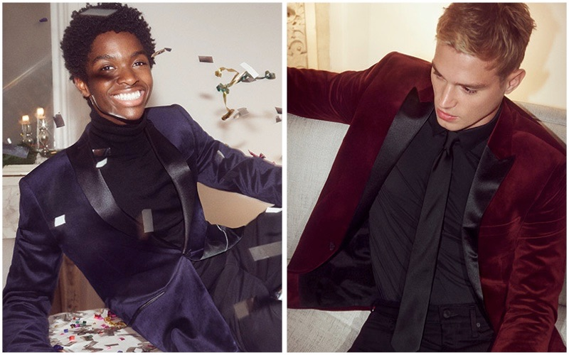 Alton Mason and Matthew Noszka star in Express' holiday 2018 campaign.