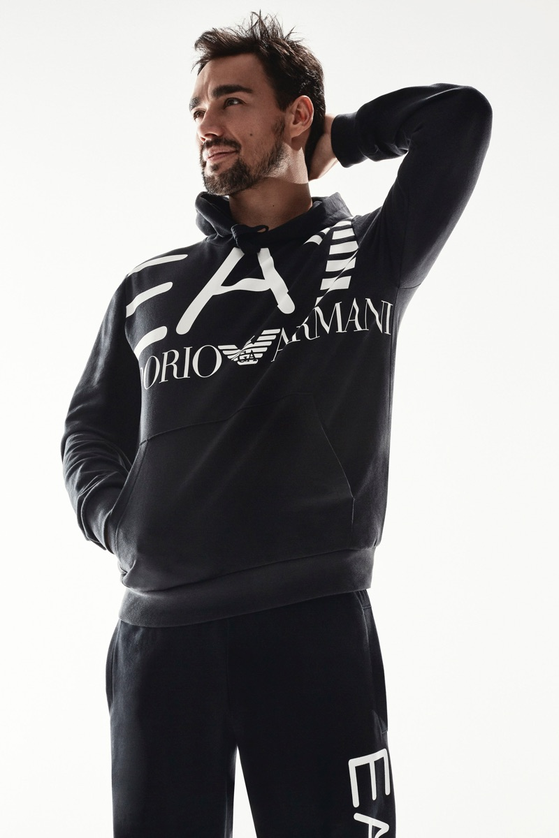 Italian tennis player Fabio Fognini fronts EA7's new campaign.
