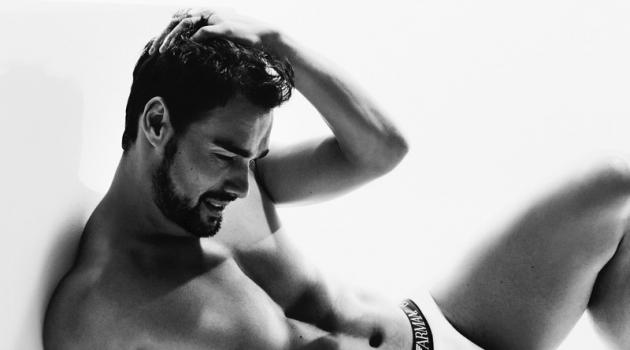 Fabio Fognini stars in Emporio Armani's latest underwear campaign.