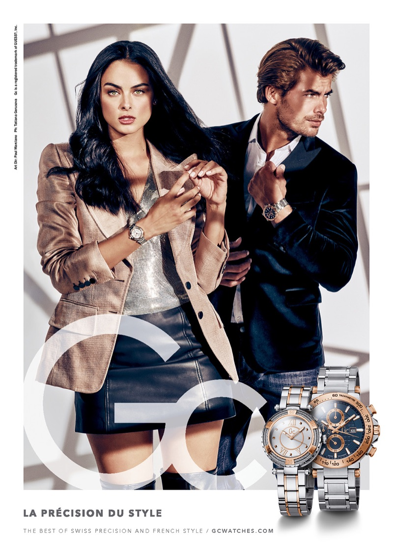 Models Xian Mikol and Jacey Elthalion star in GC Watches' fall-winter 2018 campaign.