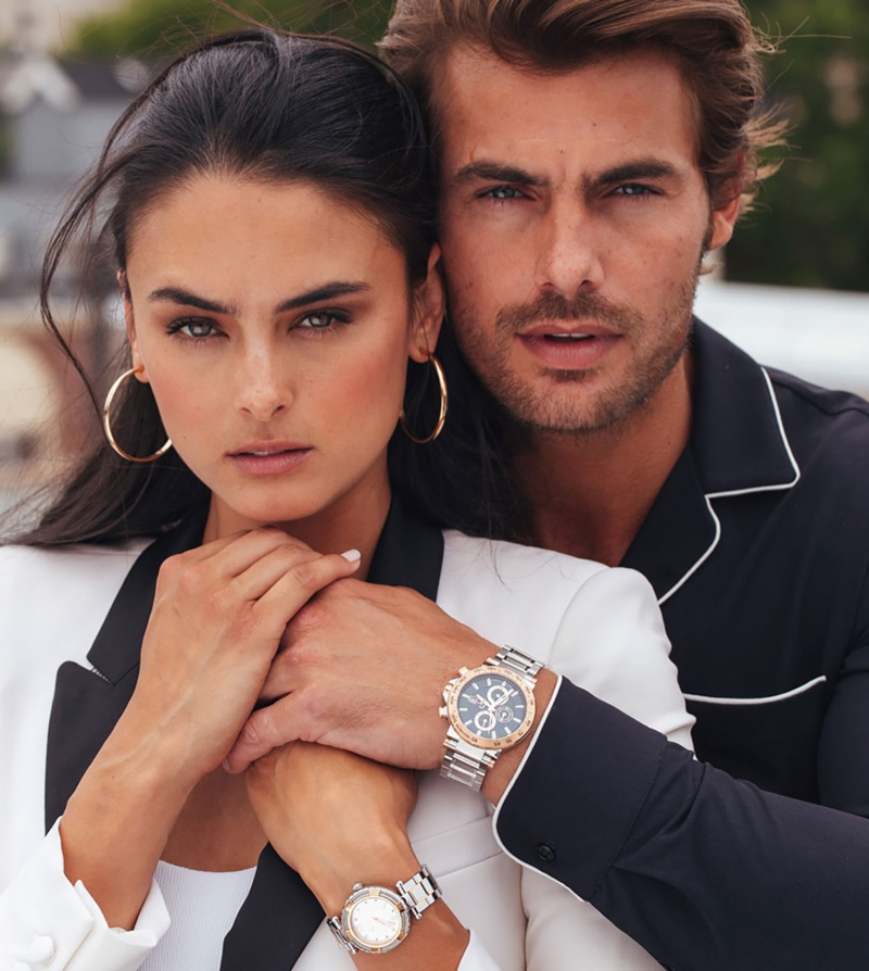 Xian Mikol and Jacey Elthalion appear in GC Watches' fall-winter 2018 campaign.