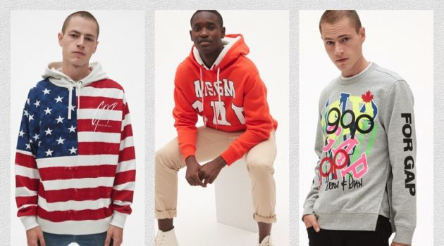 GQ Revisits Gap's Iconic Sweatshirt with Designer Collaboration