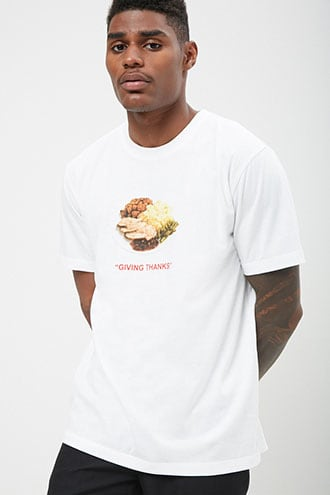 Giving Thanks Graphic Tee by 21 MEN White/multi
