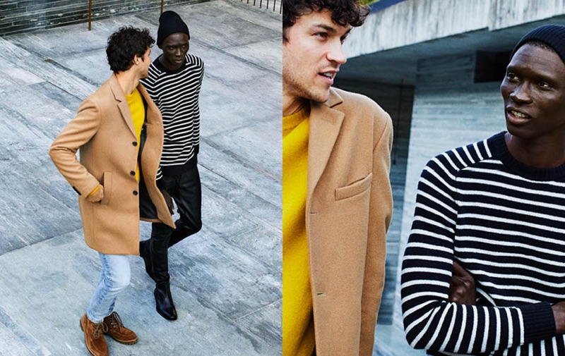 Connecting with H&M, Fernando Cabral and Miles McMillan wear classic wool sweaters.