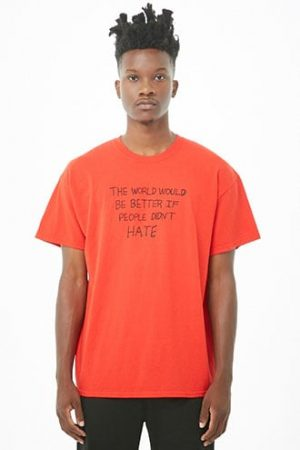 If People Didnt Hate Graphic Tee by 21 MEN Red/black