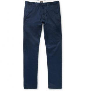 J.Crew - 484 Slim-Fit Stretch-Cotton Twill Chinos - Navy