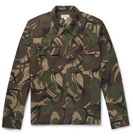 J.Crew - Camouflage-Print Cotton-Canvas Shirt Jacket - Army green