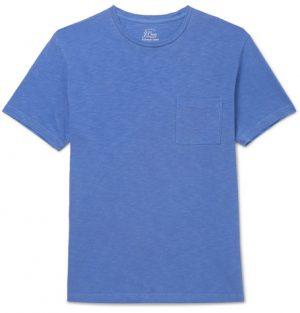 J.Crew - Garment-Dyed Slub Cotton-Jersey T-Shirt - Blue