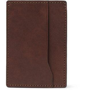 J.Crew - Leather Cardholder - Brown