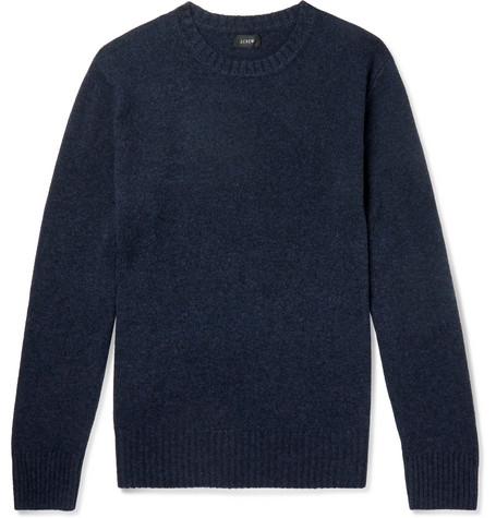 J.Crew - Merino Wool-Blend Sweater - Navy