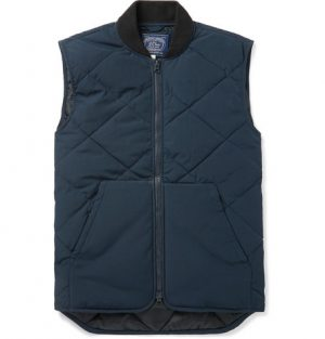 J.Crew - Nordic Quilted Jersey Gilet - Navy