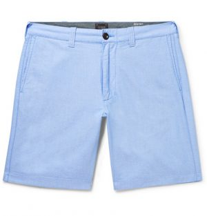 J.Crew - Slim-Fit Cotton Oxford Shorts - Sky blue