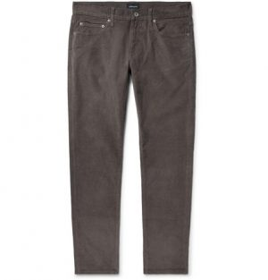 J.Crew - Slim-Fit Stretch-Cotton Corduroy Trousers - Charcoal