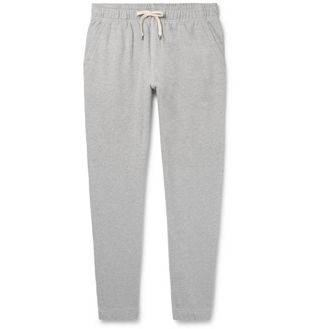 J.Crew - Tapered Mélange Loopback Cotton-Jersey Sweatpants - Gray