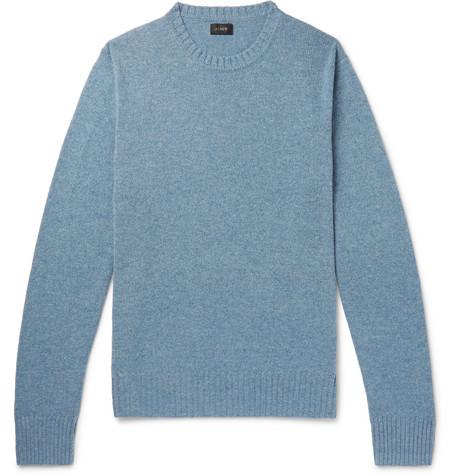 J.Crew - Wool-Blend Sweater - Blue