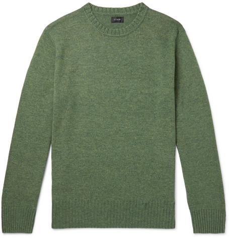 J.Crew - Wool-Blend Sweater - Green